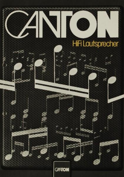 Canton HiFi Lautsprecher Prospekt / Katalog