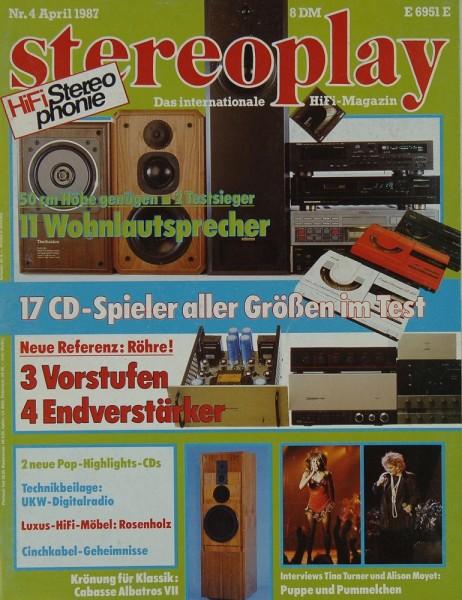 Stereoplay 4/4987 Zeitschrift