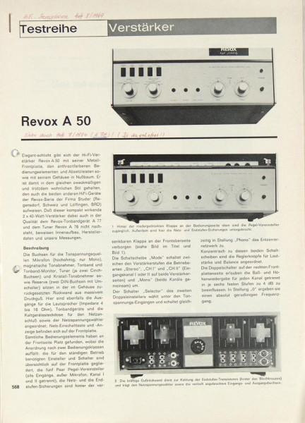 Revox A 50 / A 78 Testnachdruck