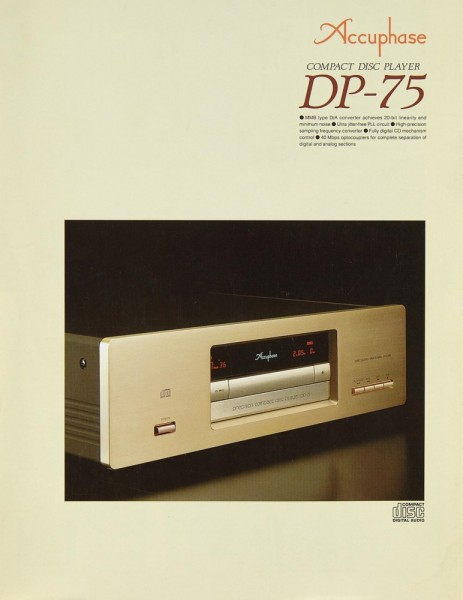 Accuphase DP-75 Prospekt / Katalog