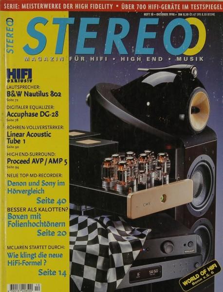 Stereo 10/1998 Zeitschrift