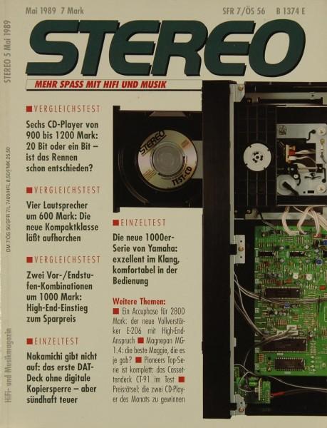 Stereo 5/1989 Zeitschrift