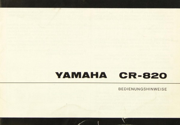 Yamaha CR-820 Bedienungsanleitung
