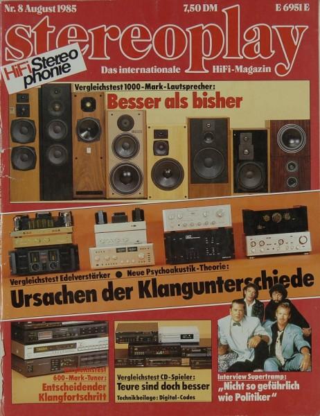 Stereoplay 8/1985 Zeitschrift