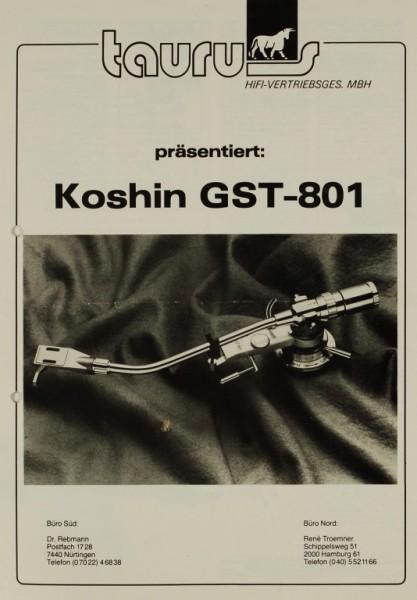 Taurus Koshin GST-801 Prospekt / Katalog