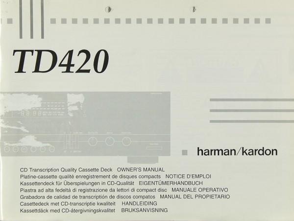 Harman / Kardon TD 420 Bedienungsanleitung