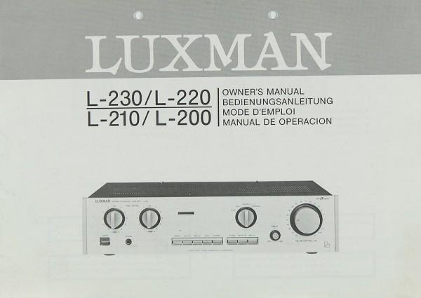 Luxman L-230 / L-220 / L-210 / L-200 Bedienungsanleitung