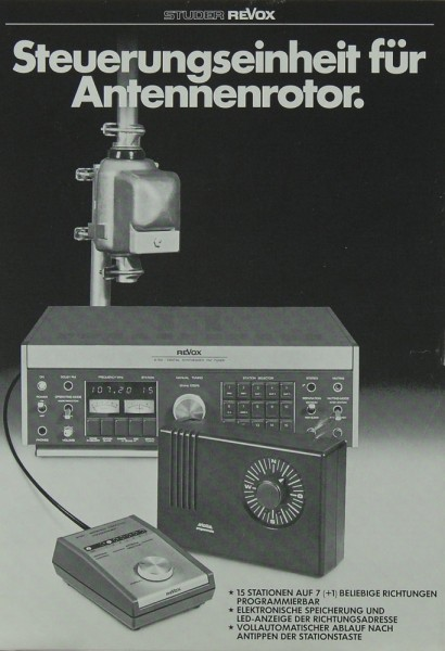 Revox Steuerungseinheit für Antennenrotor Prospekt / Katalog