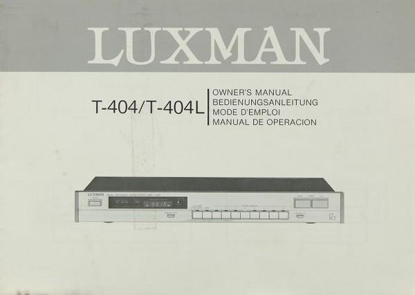 Luxman T-404 / T-404 L Bedienungsanleitung