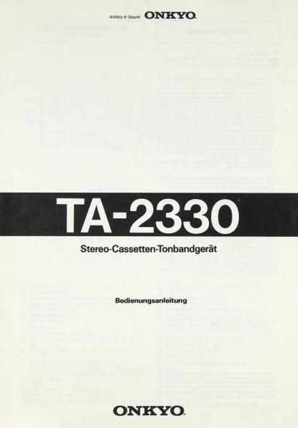 Onkyo TA-2330 Bedienungsanleitung
