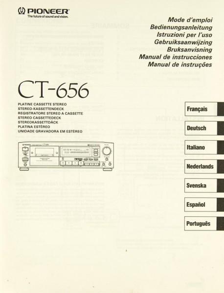 Pioneer CT-656 Bedienungsanleitung