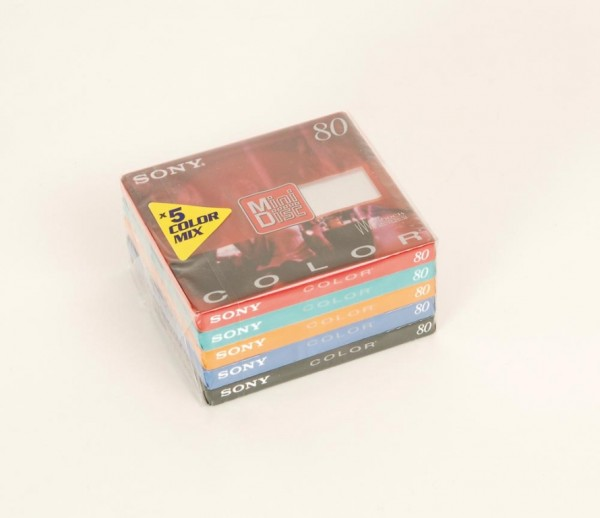 Sony MDW-80 Color Minidisc 5er Set
