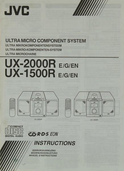 JVC UX-2000 R E/G/EN / UX-1500 R E/G/EN Bedienungsanleitung