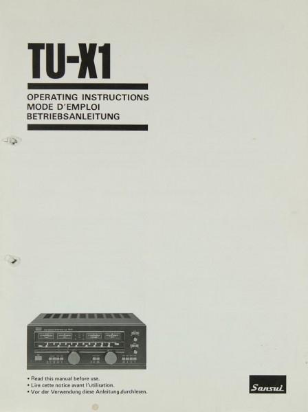 Sansui TU-X 1 Bedienungsanleitung
