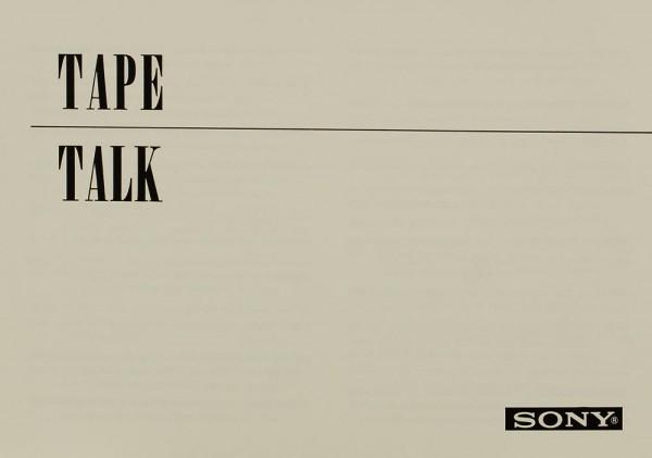 Sony Tape Talk Prospekt / Katalog