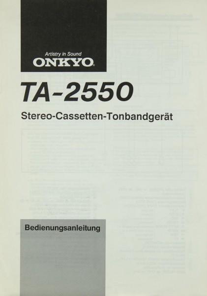 Onkyo TA-2550 Bedienungsanleitung