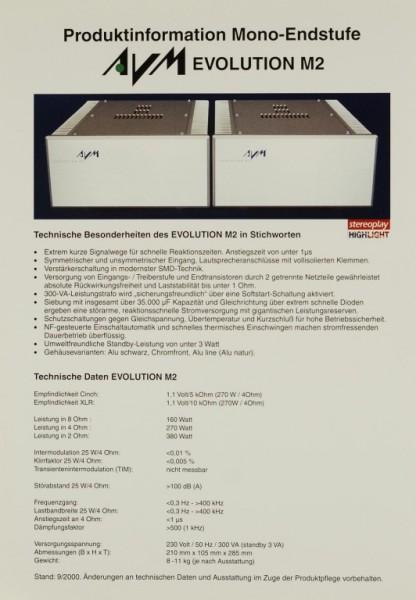 AVM Evolution M2 Prospekt / Katalog