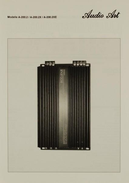 Audio Art Modelle A-200.2 / A-200.2X / A-200.2XE Prospekt / Katalog