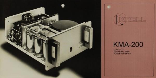 Krell KMA-200 Prospekt / Katalog