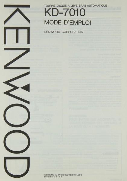 Kenwood KD-7010 Bedienungsanleitung