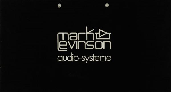 Mark Levinson Audio-Systeme Prospekt / Katalog