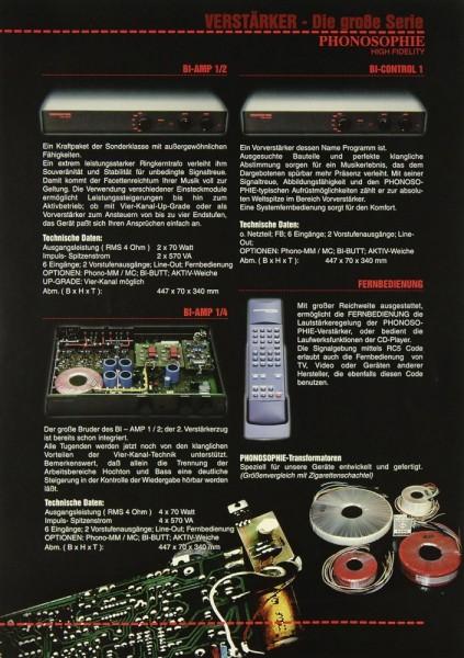 Phonosophie Verstärker - Die große Serie Prospekt / Katalog