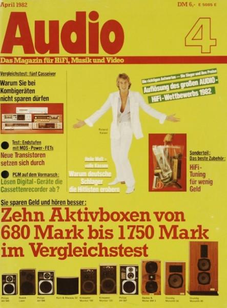 Audio 4/1982 Zeitschrift