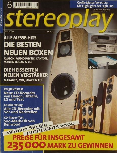 Stereoplay 6/2000 Zeitschrift