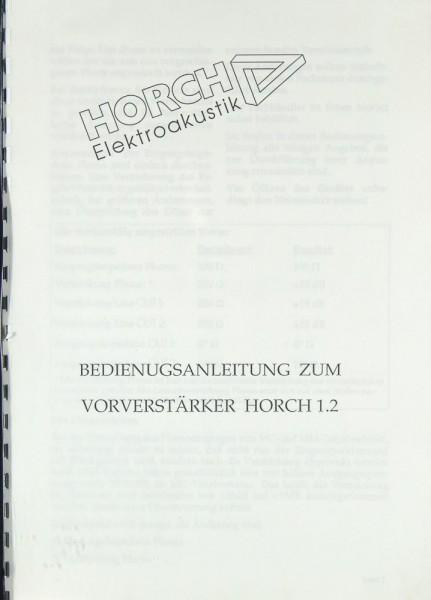 Horch 1.2 Bedienungsanleitung