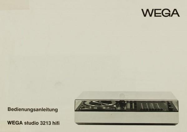 Wega Studio 3213 hifi Bedienungsanleitung