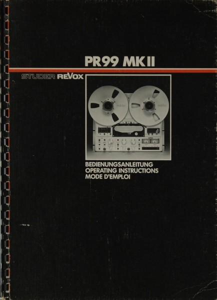 Revox PR 99 MK II Bedienungsanleitung