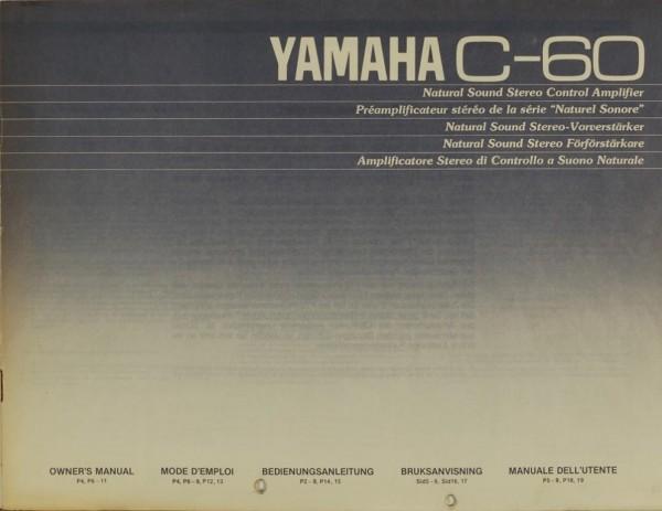 Yamaha C-60 Bedienungsanleitung