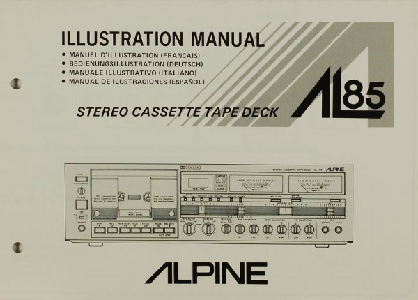 Alpine AL 85 Bedienungsanleitung | Gebrauchte Hifigeräte kaufen ...