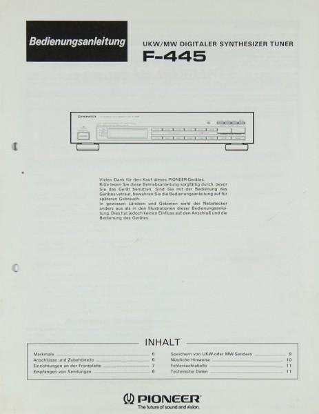 Pioneer F-445 Bedienungsanleitung