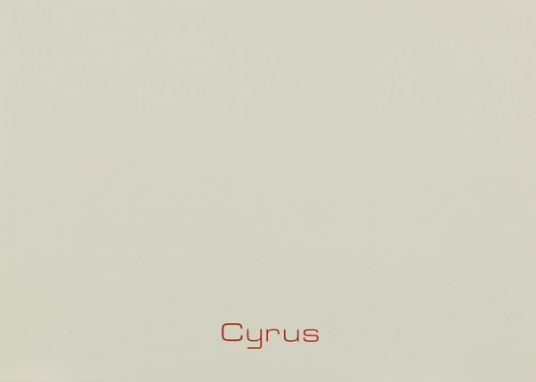 Cyrus Loudspeakers Bedienungsanleitung