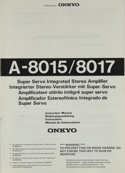 Onkyo A-8015 / 8017 Bedienungsanleitung