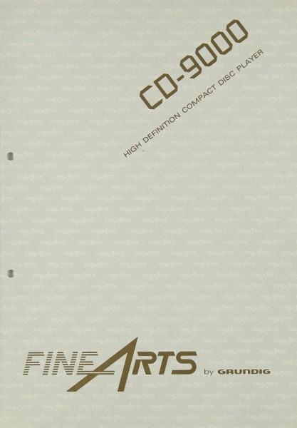 Fine Arts / Grundig CD-9000 Bedienungsanleitung
