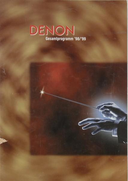 Denon Gesamtprogramm 1998/1999 Prospekt / Katalog