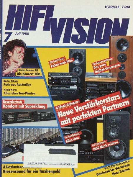 Hifi Vision 7/1988 Zeitschrift