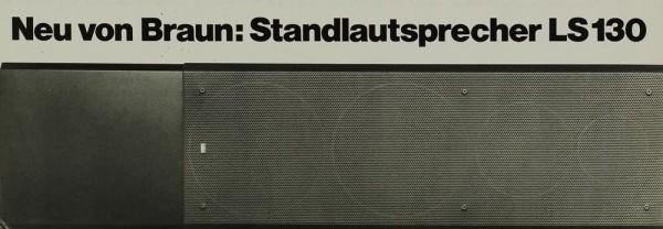 Braun LS 130 Prospekt / Katalog