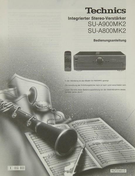 Technics SU-A 900 MK 2 / SU-A 800 MK 2 Bedienungsanleitung