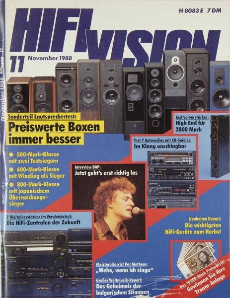 Hifi Vision 11/1988 Zeitschrift