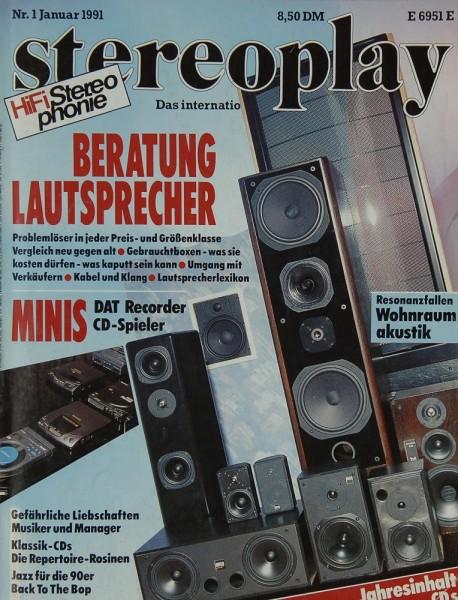 Stereoplay 1/1991 Zeitschrift