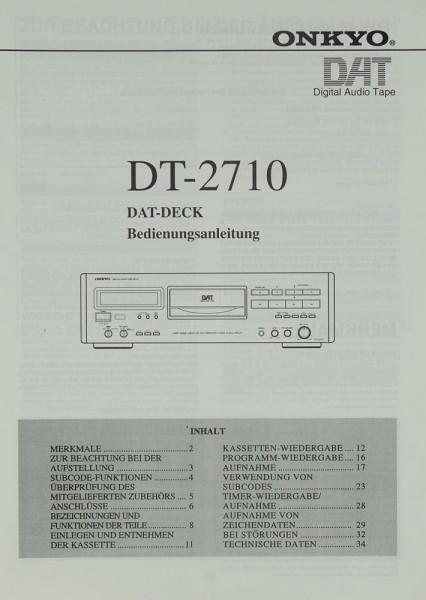 Onkyo DT-2710 Bedienungsanleitung