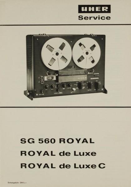 Uher SG 560 ROYAL / ROYAL de Luxe / ROYAL de Luxe C Bedienungsanleitung