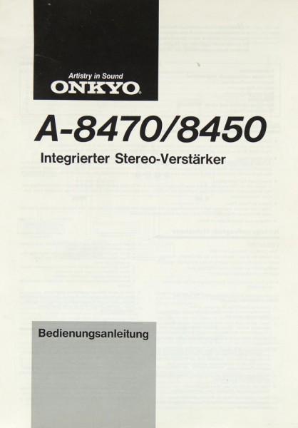 Onkyo A-8470 / 8450 Bedienungsanleitung