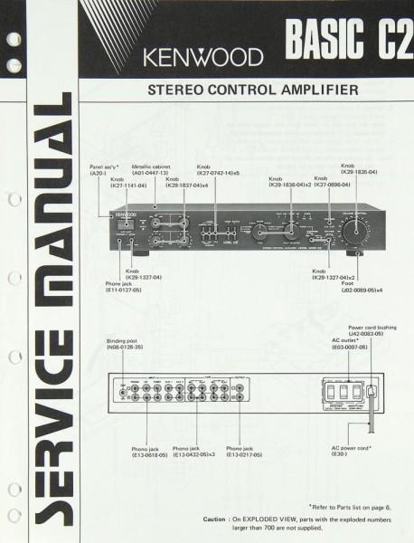 Kenwood Basic C 2 Schaltplan / Serviceunterlagen