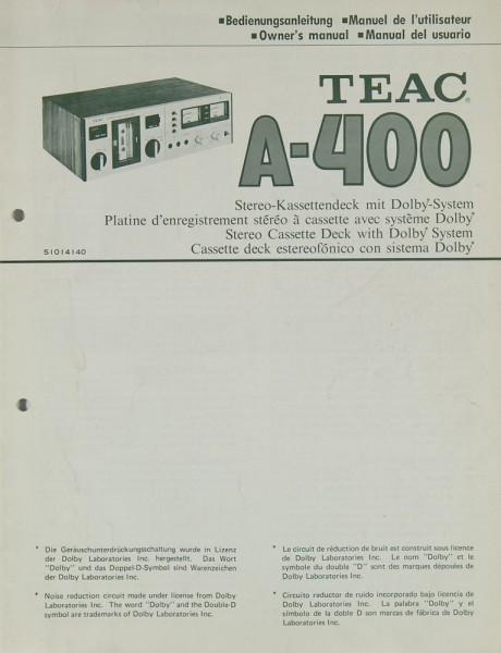 Teac A-400 Bedienungsanleitung