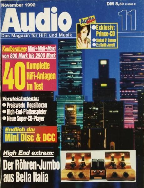 Audio 11/1992 Zeitschrift