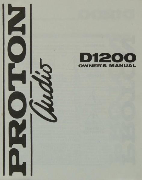 Proton D 1200 Bedienungsanleitung